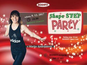 Predpraznični Shape STEP PARTY z Marijo Andrijašević!