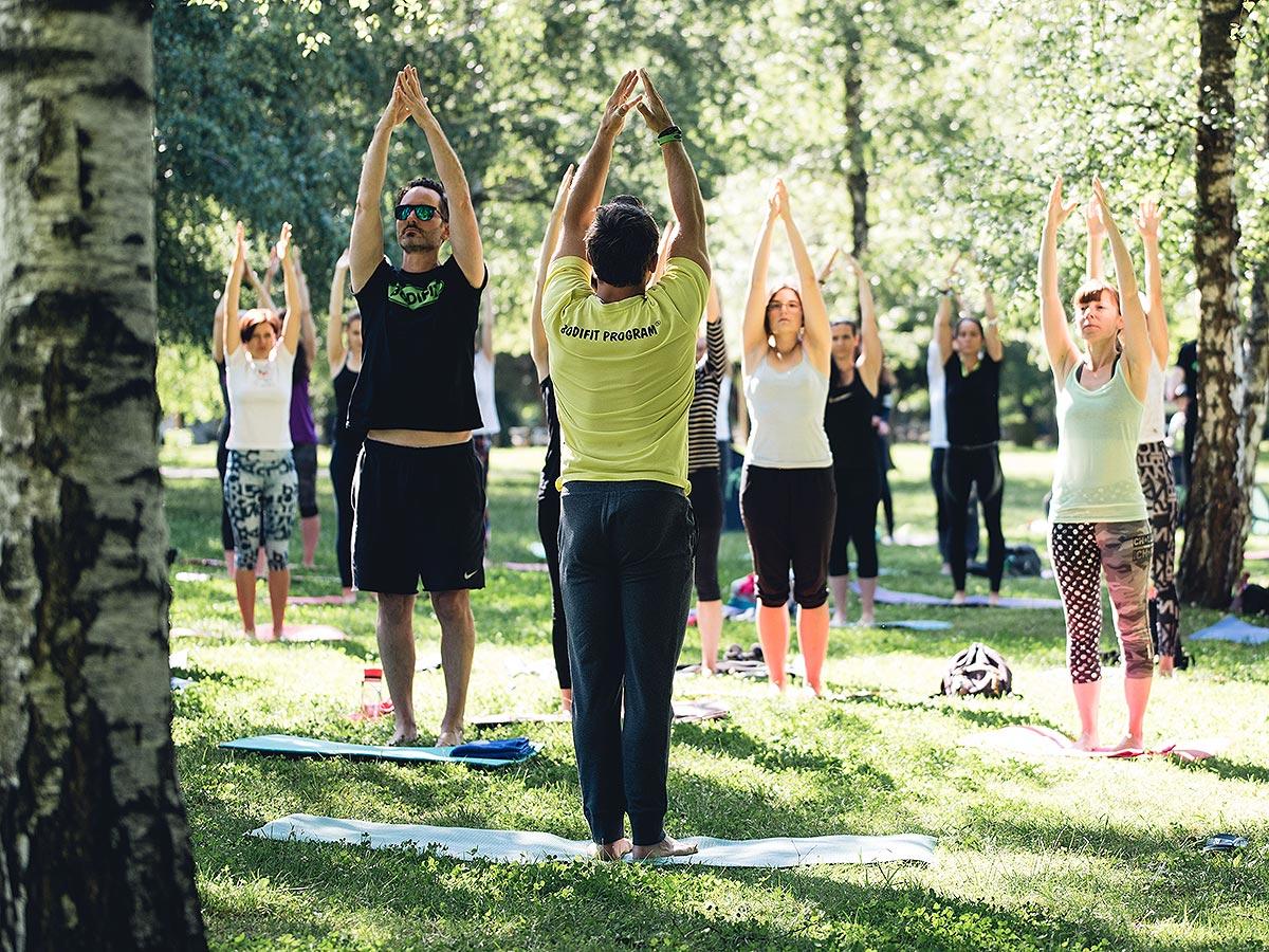 Fusion balance vadba v parku