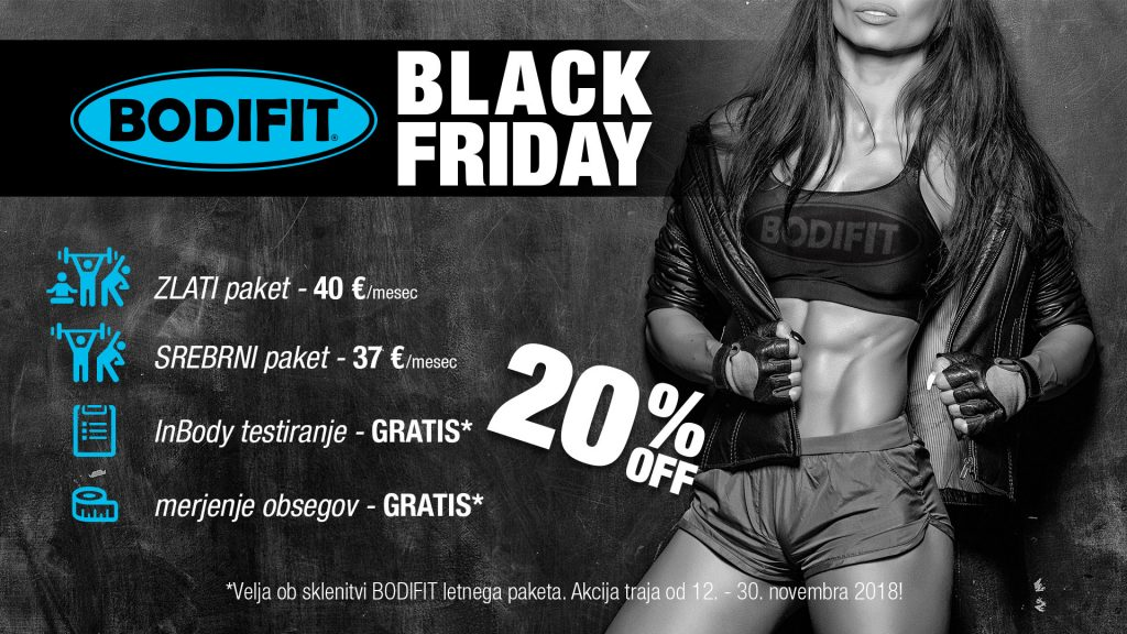 Akcija BODIFIT Black Friday